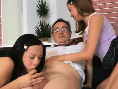 pecker riding together with blowjob by delightful girl