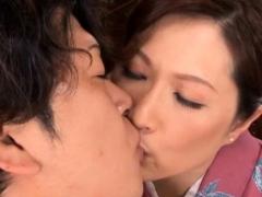 Cheerful Reiko Shimura deepthroats and rides
