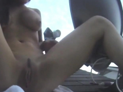 webcam-cutie-its-cleo-rubs-her-clit-on-the-roof