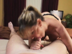 horny stepmom wants a creampie from her stepson