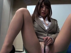 Japanese office slut behaves like a doxy and gets drilled