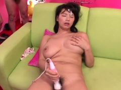 College gal ends wicked japan porn with cum on her mangos