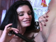 Female domination with headmistress using torment devices