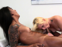 Sunkissed trans babe sucked off then screwed