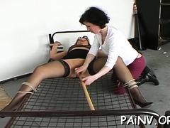 Angelic girlie explores carnal pleasures