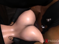 Glory hole hardcore Tranny gets fucked by big man in a mask