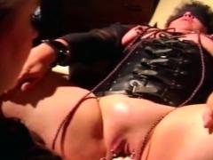 My femdom wife fisting pierced cunt