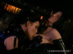 Lesbos In Latex Making Out In Bdsm Scene