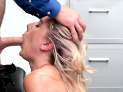 shoplifter paisley bennett gets her mouth and twat fuck