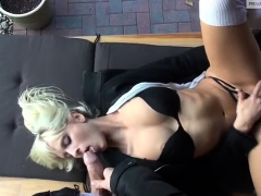 Busty Milf Candy Manson Take On A Pair Of Big Cocks
