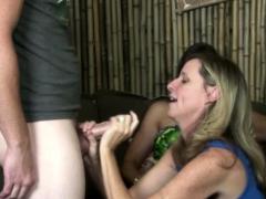 sexy milf handjob amateur tit nailed