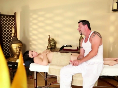 Hot Massage Teen Goes Down On Dick