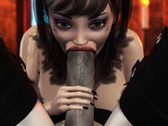 3d dickgirl witch fucks hard a cute woman in the dark castle