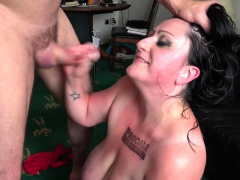 Bound slut in latex gets ass belted