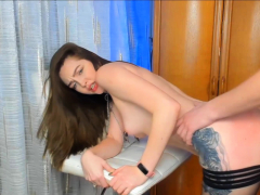 Pretty Brunette Gets Her Pussy Pounded