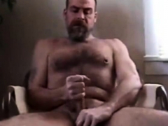 Hot hairy bear jerk off