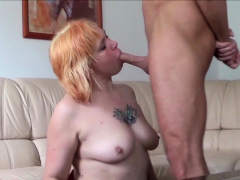German Mature Step Mom at Real Amateur Sextape with Son