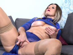 Nympho Milf Angelina Gets Busy With A Big Black Dildo