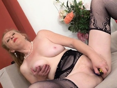 Euro Milf Angelina And Her Mature Pussy Get Excited