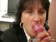 Mature Secretary Giving Pov Blowjob