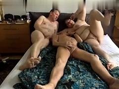 Mature bbw femdom threesome on the pool