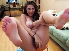 busty-solo-brunette-intense-with-dildo-in-bedroom
