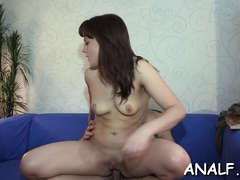 Anal Premiere Along Gal In Love With Penis And Moody For Sex