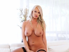 Busty Cougar London River Squirts During Double Penetration