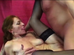 Hardcore sex for a hot GILF wearing black tights!