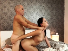 daddy4k-busty-brunette-gets-fucked-and-fed-with-sperm