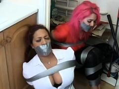 hot-mean-redhead-lesbian-fucks-her-busty-brunette-customer