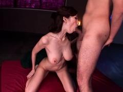 Busty Japanese Babe Enjoys Sex Toys And Blowjob