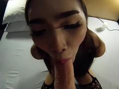 Teen Ladyboy Emmie Sucks Dick And Ass Fucked