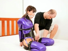 Extreme fetish latex play