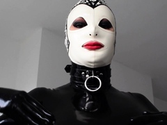Kinky Chick Caned In Fetish Latex Sex