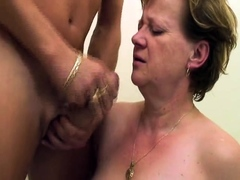 oldnanny chubby fat granny and fat mature suck cock