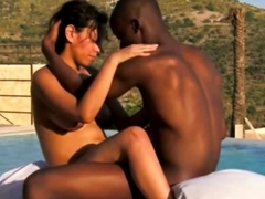 Ebony Couple Making Love Outdoors To Have Some Fun
