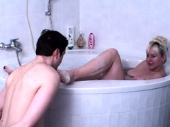 Foot Licking In Bath