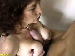 busty-redhead-mom-helping-self-suck-my-own-dick