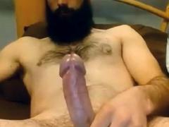 Bearded Str8 Daddy cums on cam 66