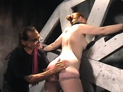 Wanton bimbo gets fucked raw and gets her slit