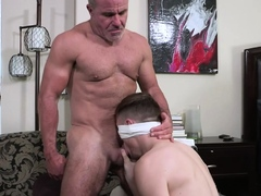 Horny Stepdad Ties And Blindfolds Stepson Josh Cannon