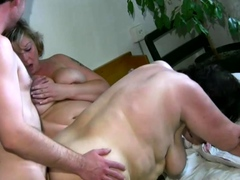 chubby grandma dildoed and licked till orgasm