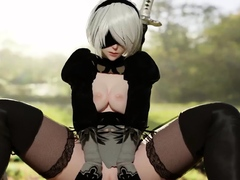 Video Games 3D Characters with Huge Round Booty Fuck