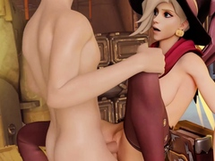 Overwatch Beautiful Mercy Getting Fucked Her Little Pussy