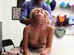 Petite blondie fucked roughly by a dirty LP officer
