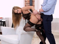 Ass To Mouth Action For Hot European Babe