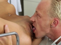 Aphrodisiac Tracy amazed by big packing monster