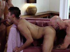 Hunk men anal 3way with horny stepdad