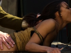Intense sex with Cassie del Isla in uniform